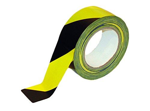 Gewebe-Warnband schwarz-gelb 50mmx25m Sorte K392