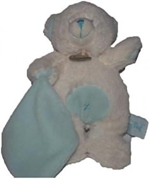 Babynat - Doudou Babynat Baby'nat ours bear bear bear Blanc  blanc pantin mouchoir bleu calins BN743-5831   Grandes Variétés  0e0c71