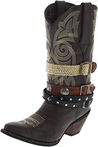 Durango Boots Western Accessorize DRD0123 Dark Brown/Damen Cowboystiefel Braun/Westernstiefel/Damenstiefel, Groesse:38.5 (7 US) Damen-western-stiefel Größe 7