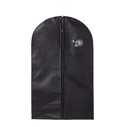teerfu para la ropa–transpirable ropa bolsa juego de Carcasas de 3para traje Carriers, vestidos, lencería, ropa de almacenamiento o Viaje–Bolsa para traje con ventana transparente, negro, 100*60cm