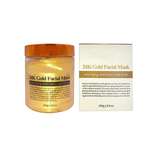 ZUZU Masken Facail 24K Gold Gesichtsmaske 250G Feuchtigkeitsspendende Anti-Aging-Whitening-Gesichtsmaske für Hautpflege-Gesichtsmasken mit Kollagen -