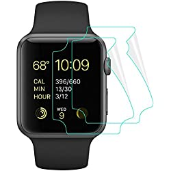 M.G.R.J Apple Watch Screen Protector Series 3,2,1 [Maximum Coverage] Apple Watch Series 3,2,1 Screen Protector [Self-healing] TPU Film Apple Watch 38MM