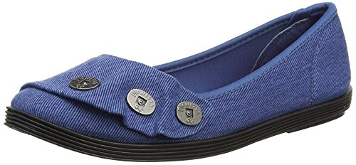 - 41XaOvN XpL - Blowfish Women's Galner Ballet Flats, Blue (Blue), 6 UK 39 EU