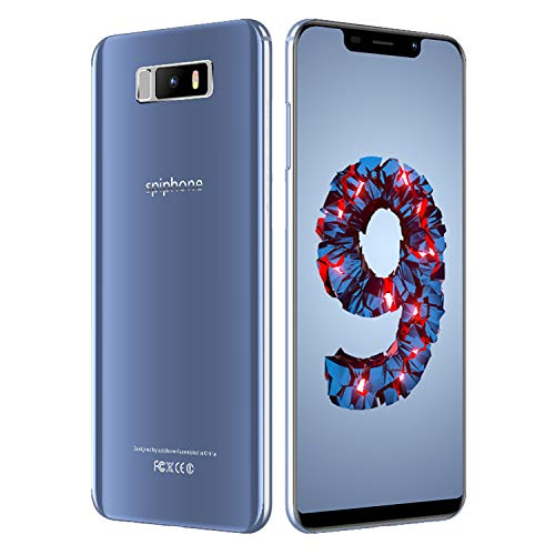 Movil Barato,5.84' Smartphone de 3GB RAM 32GB ROM 3800mAh Bateria,13MP Camara Full HD+ 19:9 Dual Sim Android 7.0 Face ID 3G+ Spiphone Note 9 Moviles Libres Baratos(Azul)
