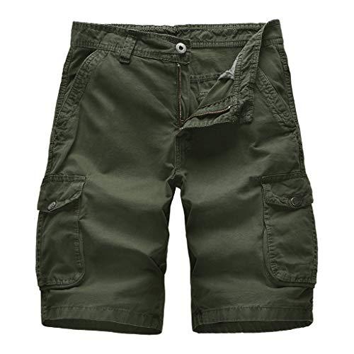 Lilicat costume da bagno per uomo shorts qualità asciugatura veloce pantaloncini spiaggia sportivi stampati lavati costume da pantaloncini sportivi da bagno spiaggia (verde dell'esercito3,86 eu)