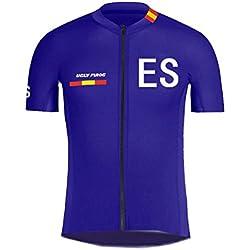 Uglyfrog - Ropa Ciclismo, Top Mangas Cortas, Camiseta Ciclismo, Maillot Bicicleta Hombre,,Código de País ES, Color Azul