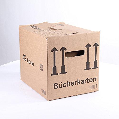 10 Bücherkartons 400 x 330 x 340mm Archivkarton Ordner Umzugs Kartons Bücher Kiste von A&G-heute -