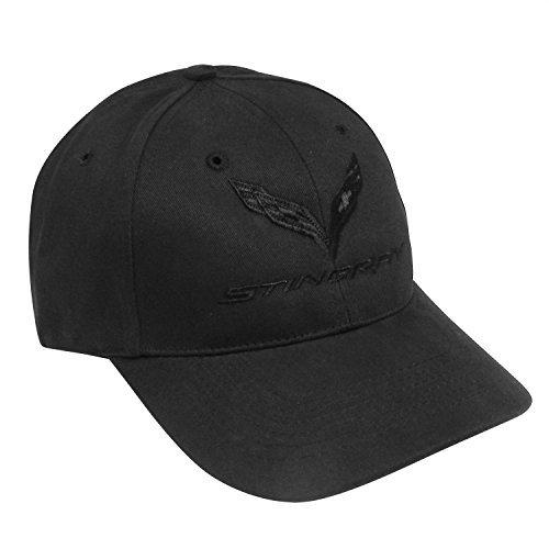corvette-stingray-c7-black-logo-baseball-cap-hat-by-chevrolet-carbeyondstore