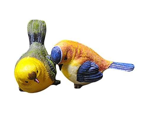 Creative Living Room TV Cabinet Decorative Resin Bird Figurines, Pair