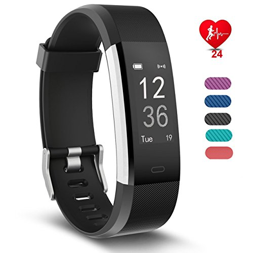 Smart Watches Fitness Tracker, RobotsDeal Activity Tracker Heart Rate Monitor with 14 Exercise Modes Sleep Monitor with GPS Route Tracking Pedometer Step Counter with 4 Watch Faces for Android or iOS Smartphones