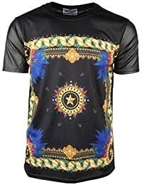 T-shirt Homme - noir motif chaines/fleur/etoile - Gov Denim - 11064_BK
