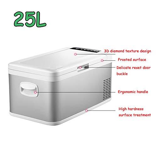 Tragbarer Kühlschrank, 20-Liter-Kompaktkühler / -wärmer-Minikühlschrank für Autos, Autoreisen, Privathäuser, Büros und Schlafsäle,25L
