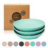 6er Set Suppenteller (D19,5xH3,8cm) - runder Teller für Suppe - Bambus | spülmaschinenfest, lebensmittelecht, ultraleicht & bruchsicher : Bambusteller | Geschirr | Essensteller | Essgeschirr