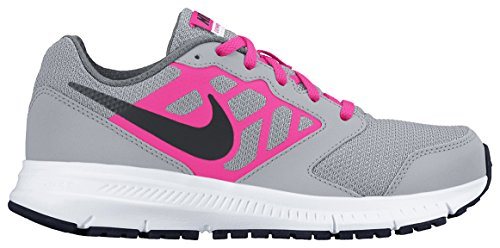 Nike Downshifter 6 (Gs/Ps), Chaussures de Running Entrainement Fille Multicolore - Gris / Negro / Rosa / Blanco (Wolf Grey / Black-Hyper Pink-Wht)