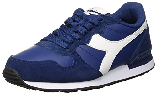 Diadora Camaro Leather, Scarpe Low-Top Uomo, Blu (Blu Estate/Bianco), 42 EU