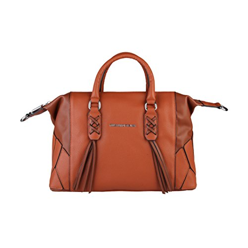 Trussardi Damen Handtasche mit Henkeln und Quasten Burlywood