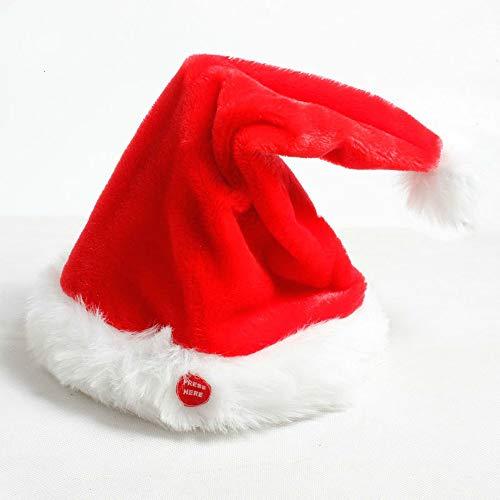Weihnachtsmütze, Elektrischer Weihnachtshut, Rockende Weihnachtsmütze, Musik...