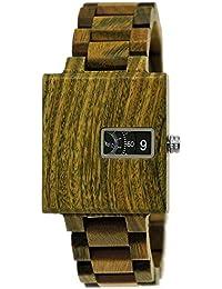 Holzwerk Germany® Matrix Reloj de Pulsera para Hombre con Mecanismo de Madera Natural ecológico, Reloj de Pulsera de Madera, Verde,…