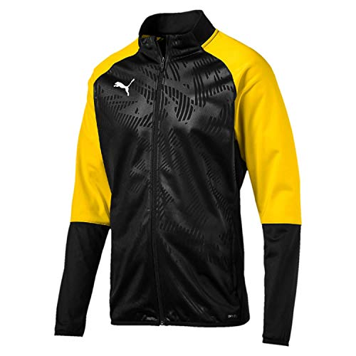Puma Kinder Cup Training Poly Jacket Core Trainingsjacke, Black-Cyber Yellow, 152 (Yellow Kinder Jacket)