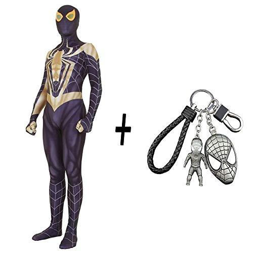 WEDSGTV Kinder Gold Eisen Spiderman Kostüm Boy Scary Adult Strumpfhosen Party Halloween Rollenspiele + - Macht Party Stadt Haben Kostüm
