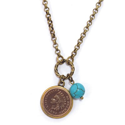 american-coin-treasures-11378-indian-head-cent-with-genuine-turquoise-bead-coppertone-pendant
