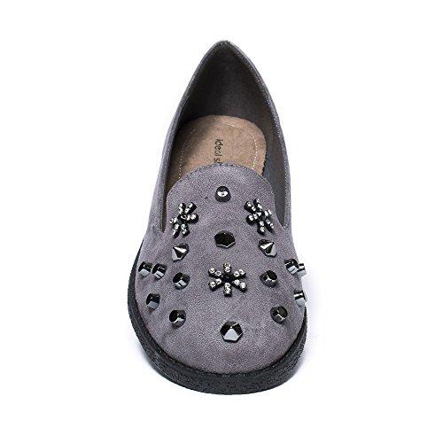 Ideal Shoes, Mocassini donna Grigio