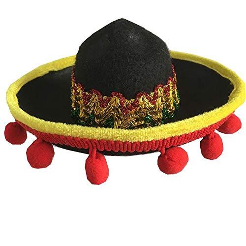 Kätzchen Kostüm Box - QDZSQFF Hund Sombrero Mini Hut Mexikanischer Hut Sombrero Party Hut Welpen KäTzchen Halloween KostüM, Geschenke (2 StüCk) D17Cm