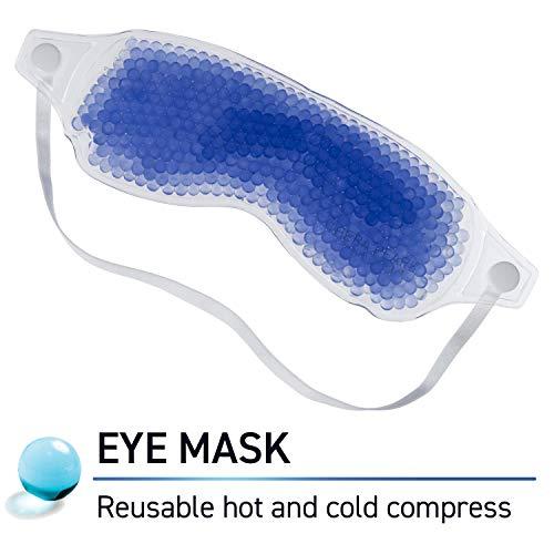 Wiederverwendbare Augenmaske mit flexiblen Gelperlen. -