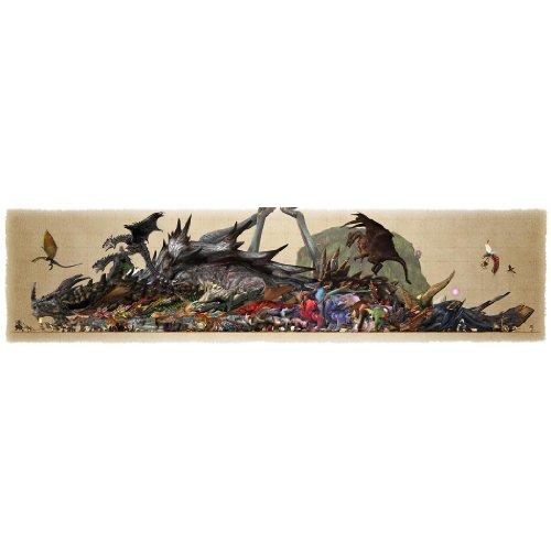 Monster Hunter (56inch x 14inch / 140cm x 35cm) Silk Print Poster - Soie Affiche - ECFE7E