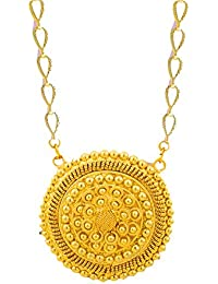 BFC- Royal Design Gold Plated Pendant With Long Chain For Women & Girls