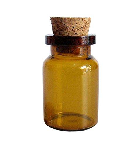 mini Glas Wide Mouth Bottle Gläser mit Korkverschluss (braun) ()