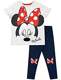 Disney Camiseta y Leggings para niñas Minnie Mouse