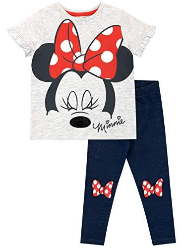 Disney Mädchen Minni Maus Top und Leggings Minnie Mouse Mehrfarbig 98 Disney Mädchen Minnie Mouse