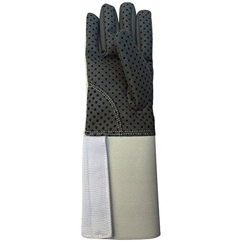 HANSHI Fechthandschuh aus Leder.Ritterhandschuh.Mittelalterlicher Stulpenhandschuh.Zwei Arten für Kinder und für Trainer.HCT07-A