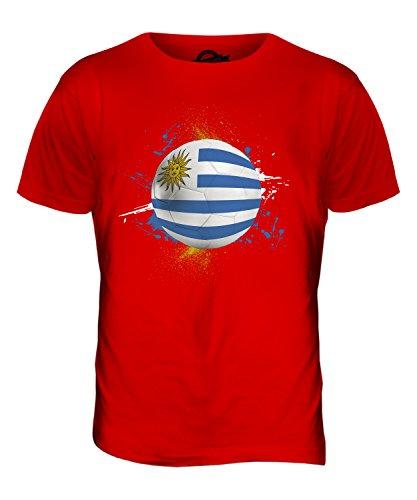 CandyMix Uruguay Calcio T-Shirt da Uomo Maglietta Rosso