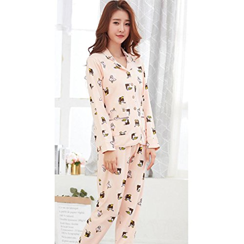 399b30a329 moxin Mujeres de Manga Larga de algodón Pijamas Ropa Casual casero Set  otoño e Invierno