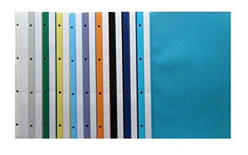 20 Ablage-Schnellhefter / Archiv-Hefter mit Lochung / 10 verschiedene Farben