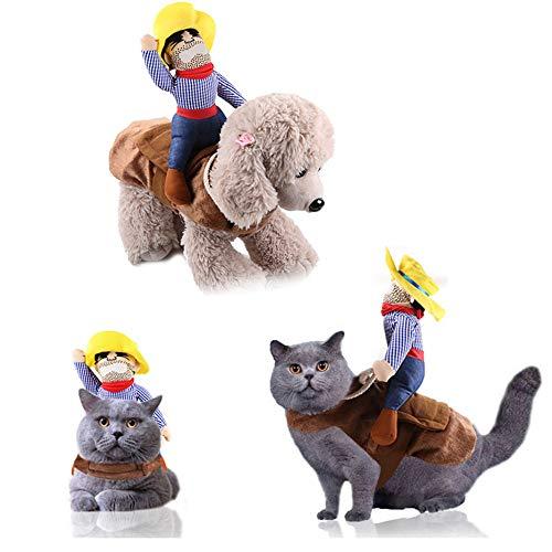 Katzen Kleidung, Weihnachten Haustier Kleidung mit Ritter Rücken Niedliches justierbare Kleidung, für Halloween Party Cosplay Dekoration für Katzen,S