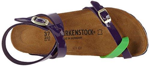 Birkenstock Damen Yara Birko-Flor Zehentrenner Mehrfarbig (Tropical Lilac Green Lack)
