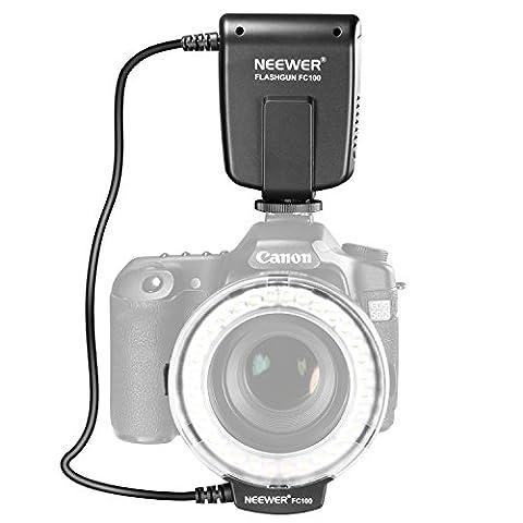 Neewer FC100 32 Super heller LED-Makro Ringblitz für Canon, Nikon, Olympus, Pentax SLR-Kameras (geeignet für 52, 55, 58, 62, 67, 72, 77mm Objektive) Canon EOS Rebel T1i (500D), T2i (550D) (400D), XTI (350D), 60D, 50D, 40D, 30D, 20D, 10D, 1D, 5D Mark 2, 5D Mark 3, Nikon D7000, D3200, D3100, D5100, (Blitzlicht Canon)