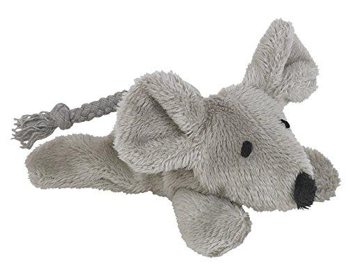 Nobby Plüsch Maus mit Catnip  9 cm - Maul Weiches Hund
