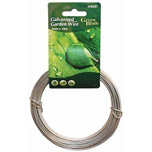 2 mm x 10 m cable jardín valla resistente galvanizadas