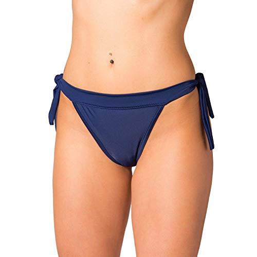 Aquarti Damen Bikinihose Brasilian zum Binden, Farbe: Graphit, Größe: 40