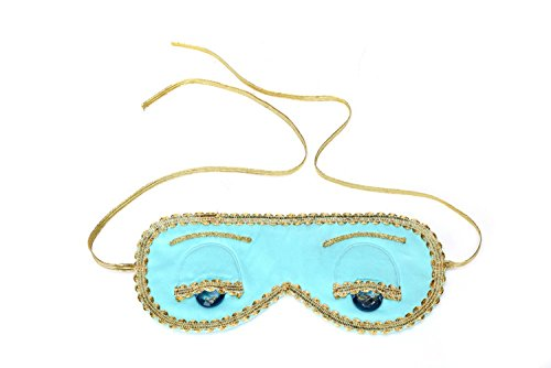 Audrey Hepburn Frühstück bei Tiffany Holly Golightly Blue Sleep Maske handgemacht, Seide, Tiffany Türkis