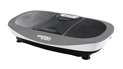 Miweba Sports Fitness Vibrationsplatte MV200 - 3 Vibrationsmodi - Horizontal - Vertikal - Oszillierend - 400 Watt (Grau)
