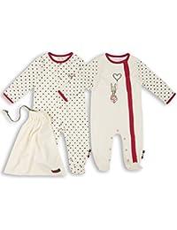 The Essential One - Baby Mädchen Schlafanzuge/Schlafanzug/Einteiler/langarmeliger Body/ Strampler (2-er Pack mit Beutel) - ESS161