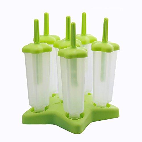 Joyoldelf 6-er Set Eis am Stiel aus Silikon,Eis Forme für Kinder und Erwachsene,ohne BPA