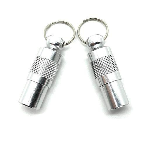 2 Adressanhänger für Hunde und Katzen / Schöner kleiner Halsbandanhänger aus Metall