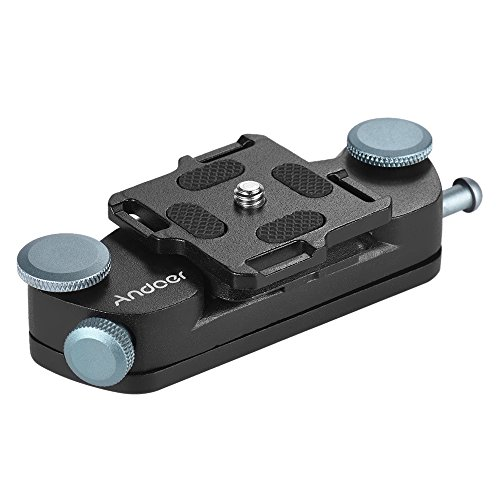 Andoer VILTROX VX-10 Metall Quick Release Kamera Gürtel Clip Schnalle, für Canon Nikon Sony DSLR-Kameras (Holster Gürtel-clip)