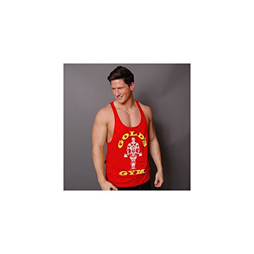 Golds Gym Classic Stringer Muscle Joe Premium Tank Top Pumping Iron (Xl, red) (Tank Athlet)